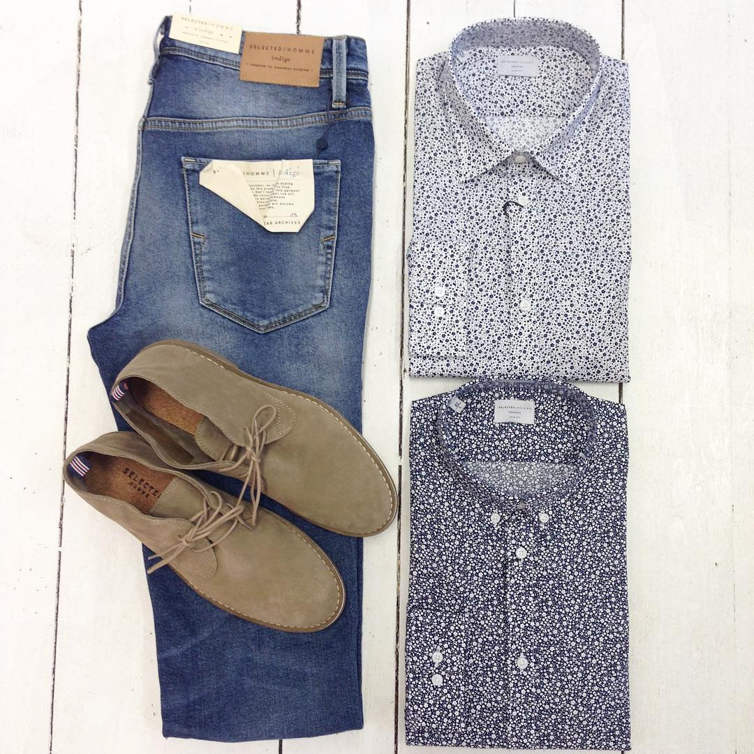 Selected homme jeans skjorta