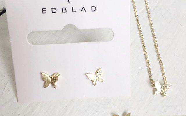 edblad halsband fjäril